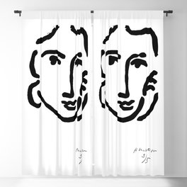 Henri Matisse Nadia With a Serious Expression, Original Artwork, Tshirts, Prints, Posters Blackout Curtain