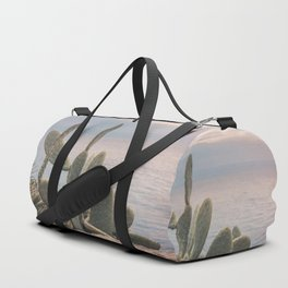 Sunset With Cactus Atlantic Ocean View Duffle Bag