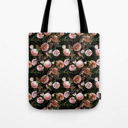 Vintage & Shabby Chic - Blush Camellia & Kingfishers Tote Bag