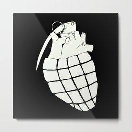 Heart Grenade Metal Print