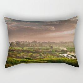 Rice fields Rectangular Pillow