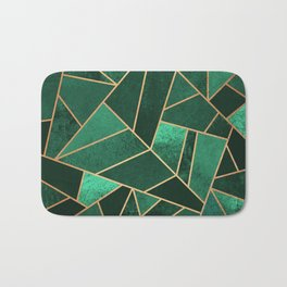 Emerald and Copper Bath Mat