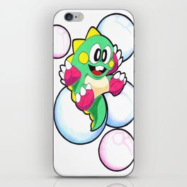 bubble bobble iPhone Skin