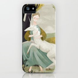 The Maiden and the Unicorn iPhone Case