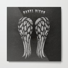 Daryl Dixon Wings Metal Print