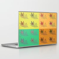 popart Laptop & iPad Skins featuring Feathers PopART by UnifiedGlory