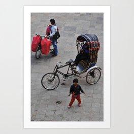 kathmandu streets #2 Art Print