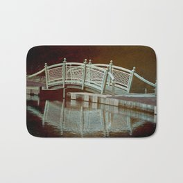 Bridge in a pond Bath Mat