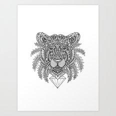 Ornate Tiger Art Print