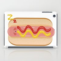 hot dog iPad Cases featuring hot dog by Alba Blázquez