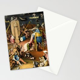 The Garden of Earthly Delights - Bosch - Hell Bird Man Detail Stationery Cards