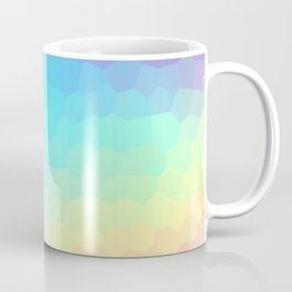 Pastel Rainbow Gradient With Stained Glass Effect Coffee Mug