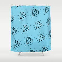 Diamonds are forever Shower Curtain