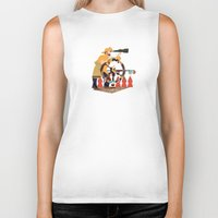captain Biker Tanks featuring Captain by Design4u Studio