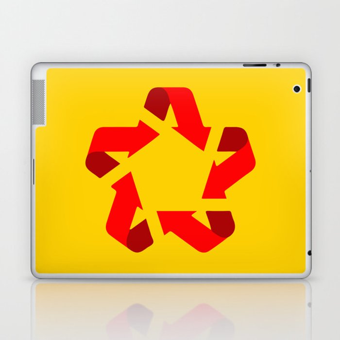 Recycle red star Symbol of new communism Laptop & iPad Skin