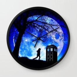 Tardis Night Wall Clock