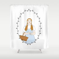 dorothy Shower Curtains featuring Dorothy Gale by Whiteland
