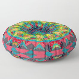 Fruit and Charcoal Bliss Circle Floor Pillow