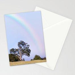 Rainbow Landscape Photography   Unicorn Sunset   Blue Sky   Tree Art   Nature Stationery Cards