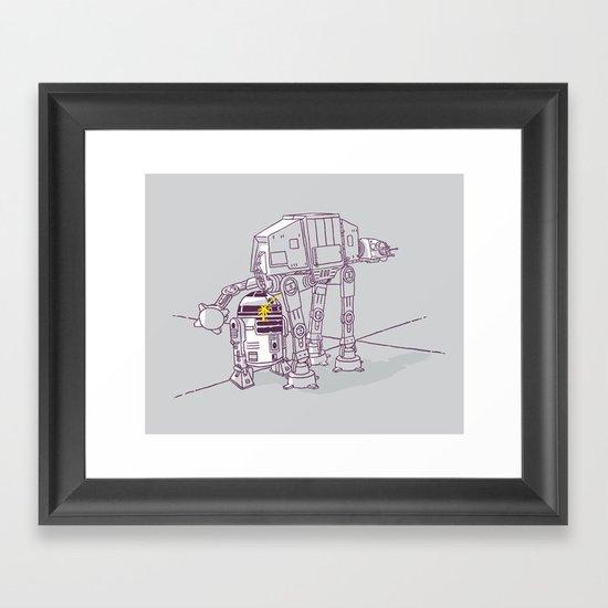 Not quite a fire hydrant Framed Art Print