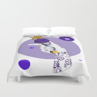 saturn Duvet Covers featuring Saturn by scoobtoobins