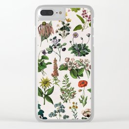 vintage botanical print Clear iPhone Case