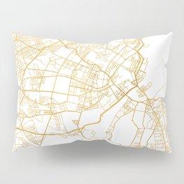 COPENHAGEN DENMARK CITY STREET MAP ART Pillow Sham