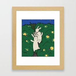 Running through the Grass Framed Art Print