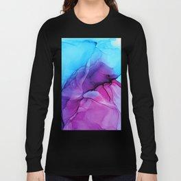 Aqua Pop - Alcohol Ink Painting Long Sleeve T-shirt