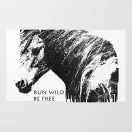 RUN WILD BE FREE Rug