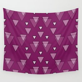 Geometric Triangles in Fuchsia Pink Wall Tapestry