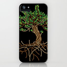 Rope Tree of Life. Rope Dojo 2017 black background iPhone Case