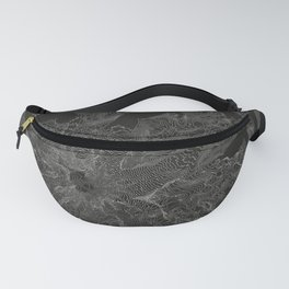 Mount Rainier, WA Contour Map Fanny Pack