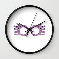 luna lovegood Wall Clocks featuring Luna by Eva van Gorp
