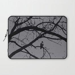 Haunted Tree: Halloween, black and gray Laptop Sleeve