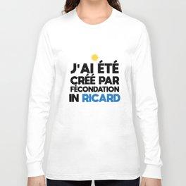 J ai ete cree par fecondation in ricard paris t-shirts Long Sleeve T-shirt