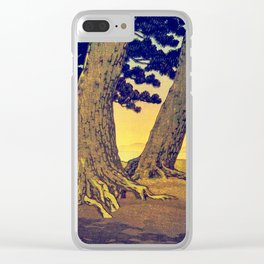 Domi's Heart at Sunset Clear iPhone Case