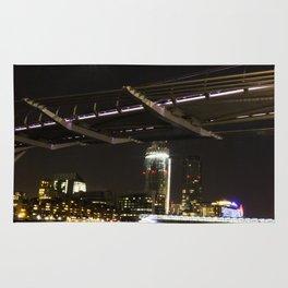 Millennium Bridge at Night Rug