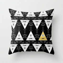 Bill Cipher - Gravity Falls Throw Pillow