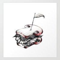 sandwich flower Art Print
