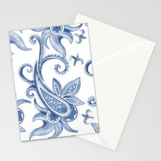 Paisley: Monaco Blue Stationery Cards
