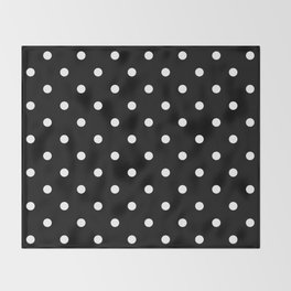 Black & White Polka Dots Throw Blanket