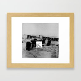 One day we'll all be free. Framed Art Print