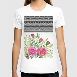 Bouquet of roses , patchwork 2 T-shirt