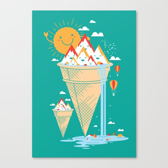 mystery island Canvas Print