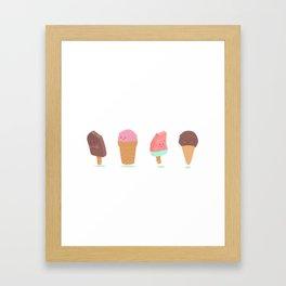 i hate summer Framed Art Print
