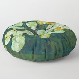 Tranquil lily pond Floor Pillow