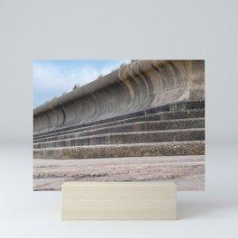 Concrete sea defences Mini Art Print