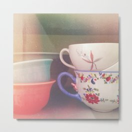Coffee Cups Metal Print