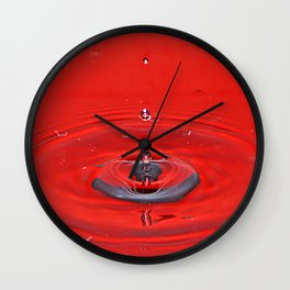 Red Beads. Wall Clock